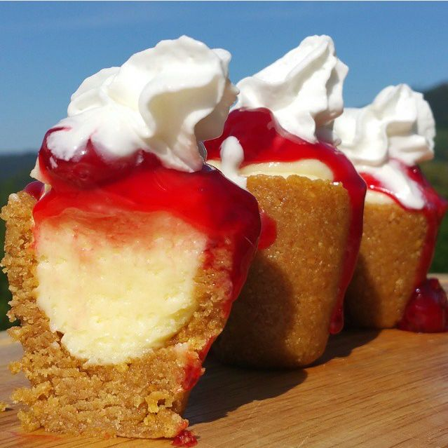 The Bite-Sized Treats Make Mini Cheesecakes or Alcoholic Vessels #cheesecake trendhunter.com