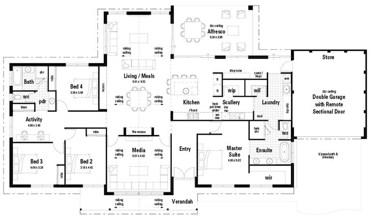 Single Floor Country House Plans: 158 Best Images About Floor Plans On Pinterest