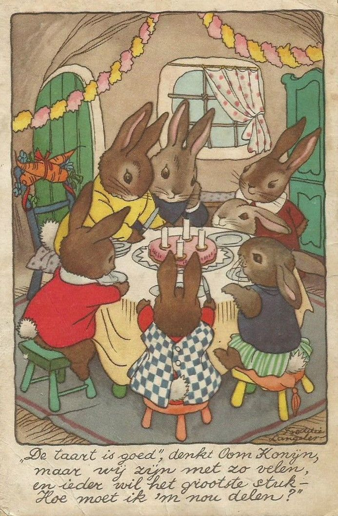 bunnies tea party