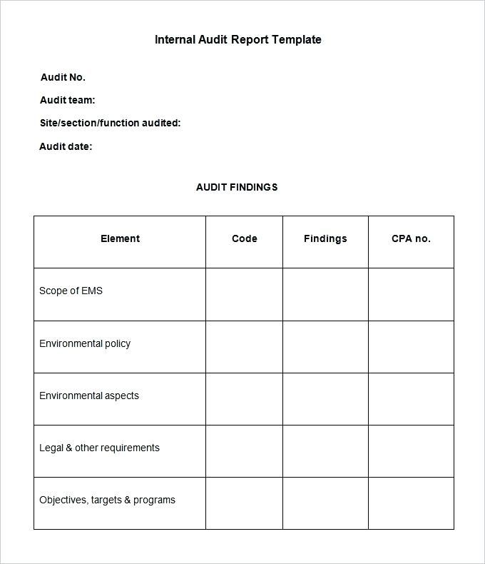 Related Image Report Template Internal Audit Book Review Template