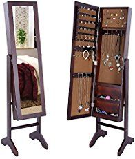 Free Standing Jewelry boxes for women are excellent gifts any time of year.  #armoire #jewelry