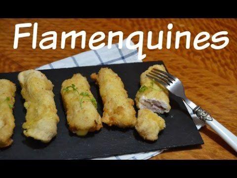 Receta de flamenquines de jamón y queso