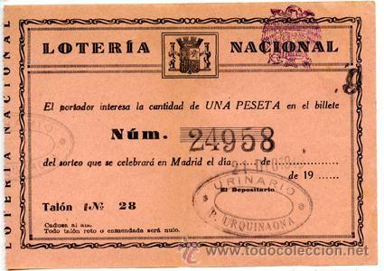Participación *LOTERÍA NACIONAL Sorteo Navidad* año 1940 - Nº 24958 -- Urinarios Públicos Barcelona