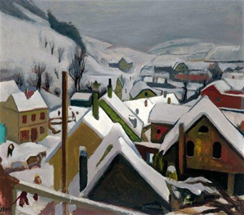 Winter in Judenburg von Josef Dobrowsky