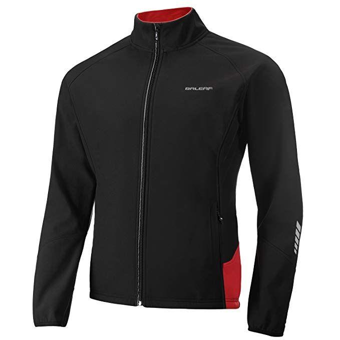 BALEAF Mens Softshell Cycling Jacket Windproof Breathable Motorbike Road Bike for Mountain Bike