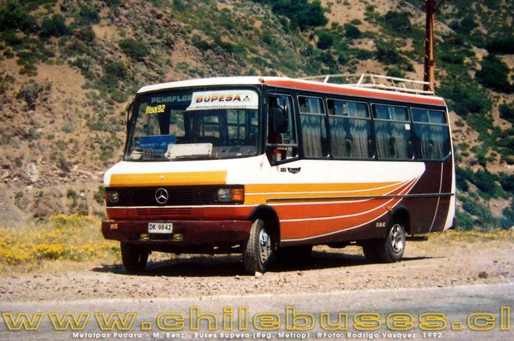 Metalpar Pucará I, con chasis Mercedes Benz 812. BUPESA (Buses Peñaflor-Santiago)