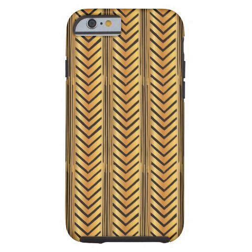 Gold Chevron Arrow Lines Boho Tribal Style Tough iPhone 6 Case