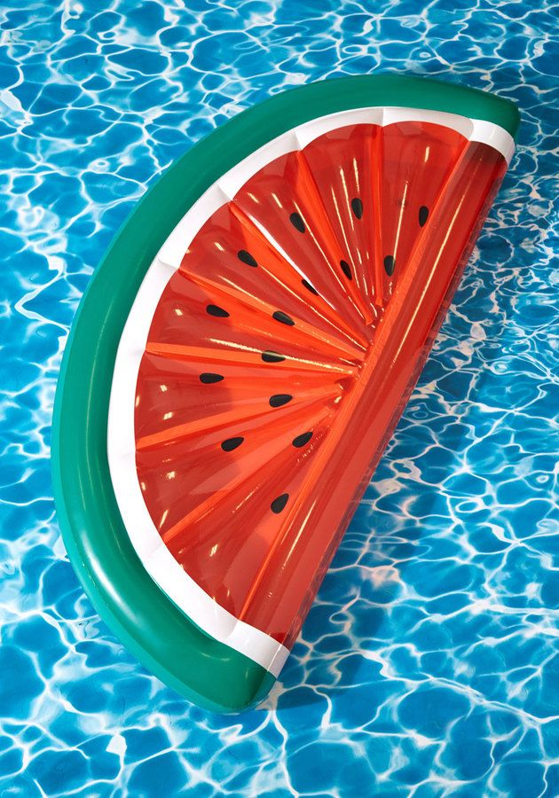 On Melon-Choly Hill Pool Float - Feeling seedy? Let this float sweeten your sunbathing excursion. Shaped like a slice of watermelon, this float is perfect for sharing -- or maybe just to keep for yourself. Either way you slice it, this raft makes for a perfectly colorful Instagram post.