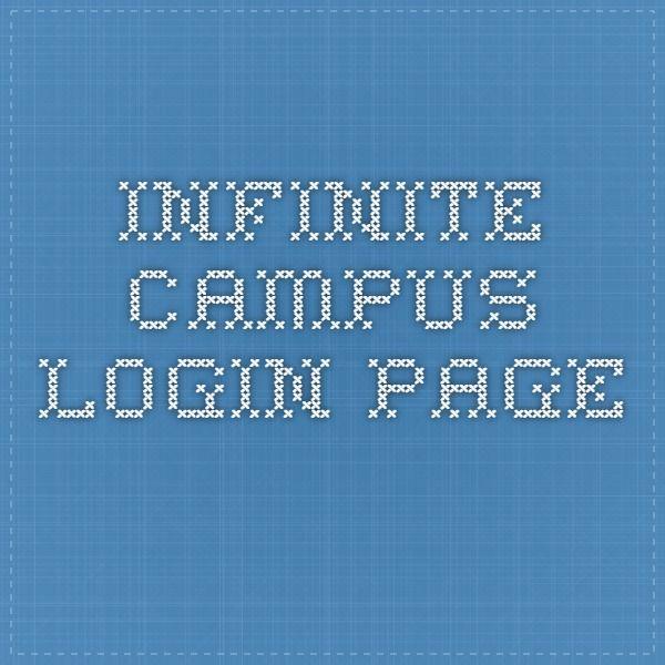 Infinite Campus login page