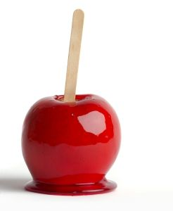 Candied Apples from the State Fair. These had the hard candy shell and were the best.