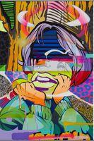 Dipinto a mano copia pop art pittura a olio del fumetto su tela qualità di hight dipinta a mano dipinti astratta della pittura a olio ragazza x2020