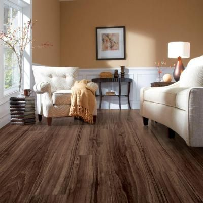 22 best Laminate wood flooring images on Pinterest   Flooring     Hampton Bay High Gloss Greyson Olive 8 mm Thick x 5 5 8 in  Flooring Options Laminate