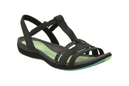 Clarks Tealite Grace - Black - Womens Sports Sandals | Clarks