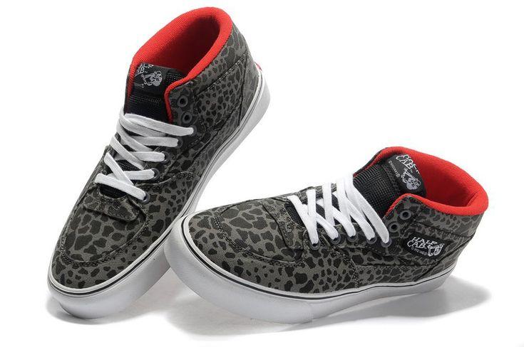 Vans Leopard Half Cab Pro Grey [vans00115] - $73.34 : cheap vans shoes for men, buy vans skate shoes women online sale
