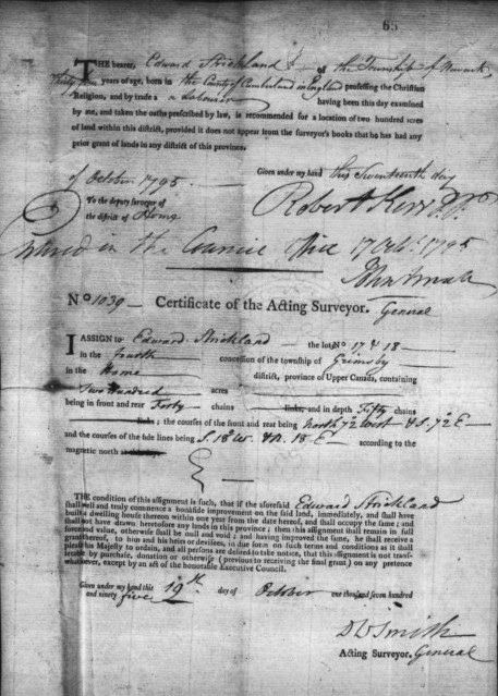 Olive Tree Genealogy Blog: Home District Land Certificates 1787 to 1795