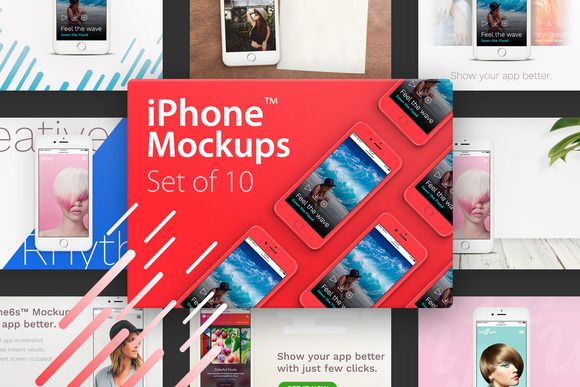 10 iPhone™ Mockups by eppearance on @creativemarket