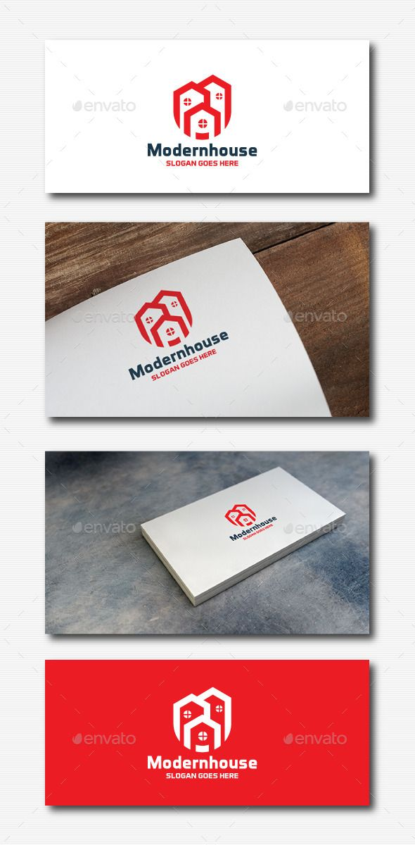 Modern House  Logo Design Template Vector #logotype Download it here:  http://graphicriver.net/item/modern-house-logo/11833090?s_rank=1470?ref=nexion