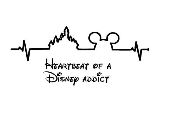 Disney Addict heartbeat of a disney addict by BBStickyDesigns More