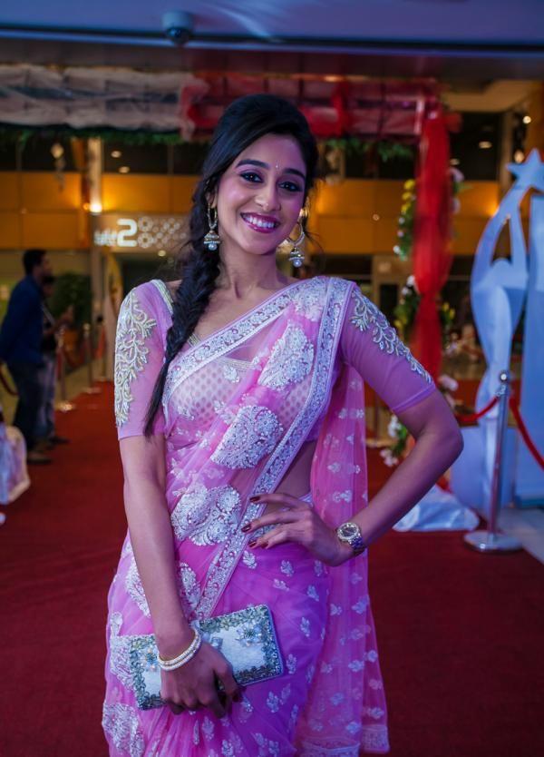 Regina Cassandra in saree at SIIMA 2013