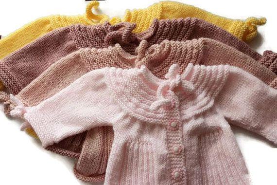 0-12 Months Handwowen Baby Cardigan  Baby Girl  by karmaistanbul