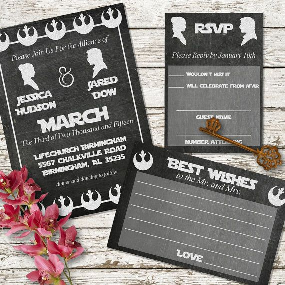 Star Wars Chalkboard Printable Wedding by SweetTeaAndACactus