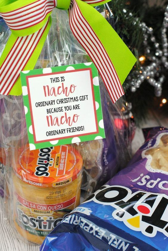 Nacho Neighbor Gift Idea More - 25 Fun Christmas Gifts For Friends And Neighbors Xmas Crafts Diy