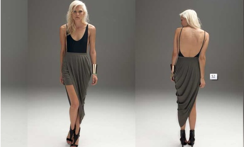 Blessed are the Meek native skirt in khaki. Flawless and flattering fit on. $129.95