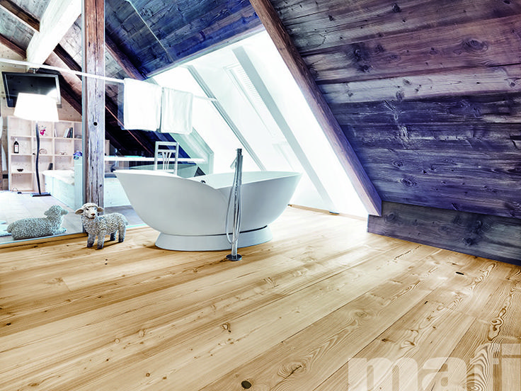 Larch Brushed Natural Oil | Timber flooring | Bathrooms | mafi