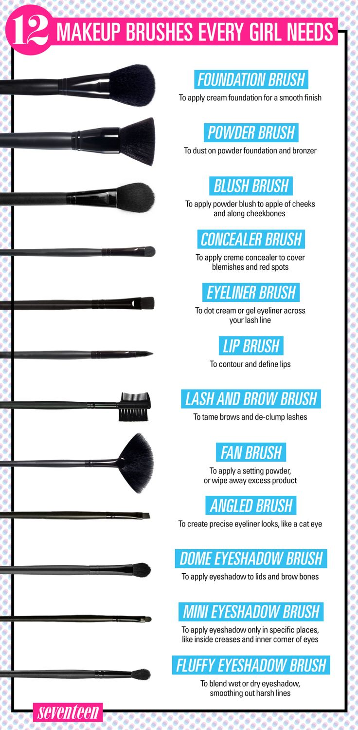 12 Makeup Brushes Every Girl Needs