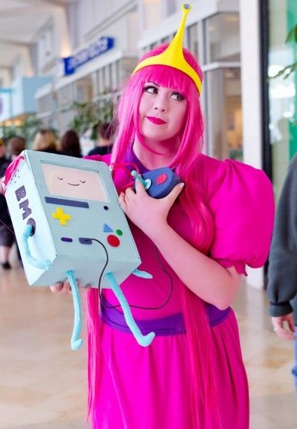 Princess Bubblegum Cosplay Dress   Princess Bubblegum and BMO by Devanelle
