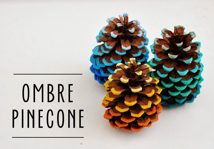 FABULOUS! DIY Friday: Ombre Pinecone Tutorial