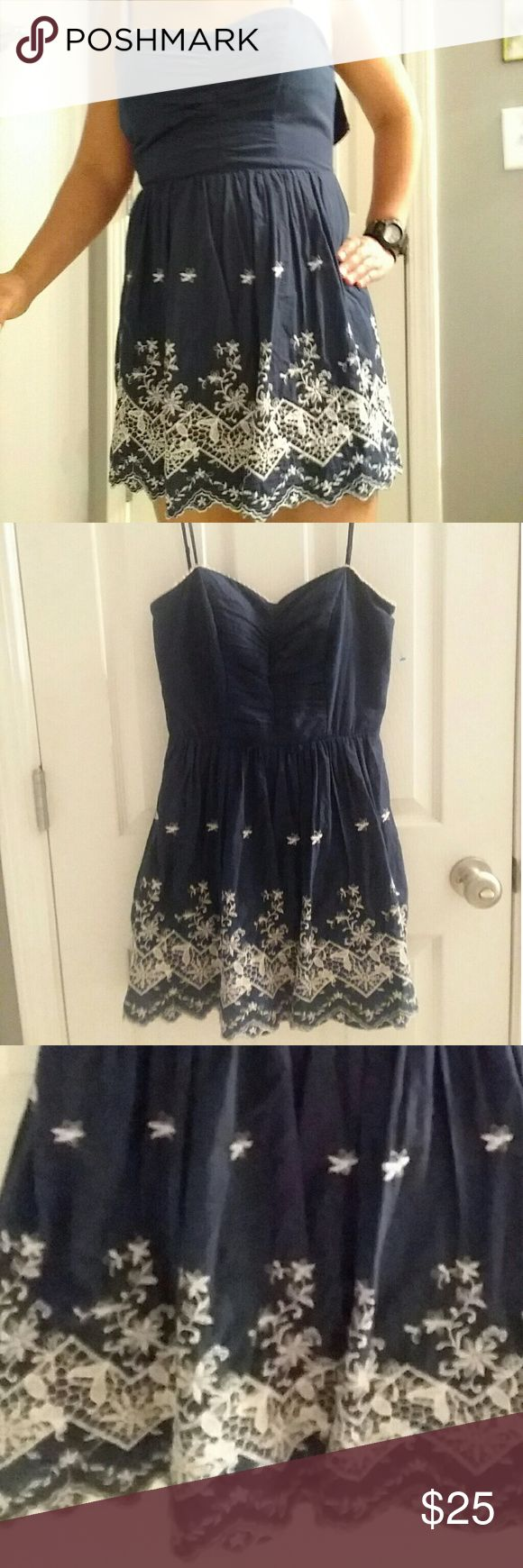Speechless navy blue dress Very cute dress mini. Nice for going out. U can pair it with some nice sandals, boots, or flats.  Has a beautiful  crochet bottom. Casual Speechless Dresses Mini