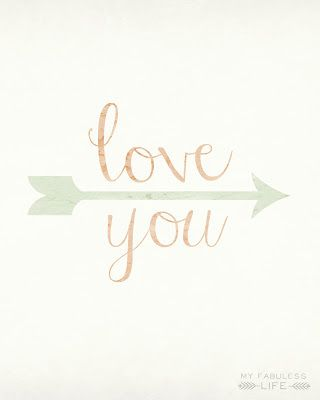 love you free art printable. Resize for project life filler card.
