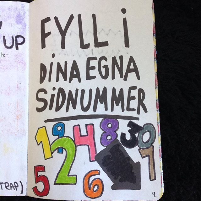 Wreck This Journal (Sabba Den Här Boken) - Add Your Own Page Numbers (Fyll I Dina Egna Sidnummer)
