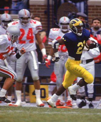 Mr. Desmond Howard running by some quiet little buckeyes