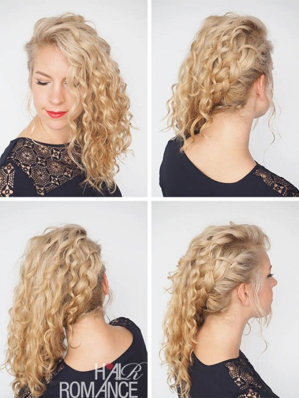 Hair Romance - 30 Curly Hairstyles in 30 Days - Day 10 - Side swept braid