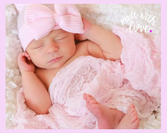 Hey, I found this really awesome Etsy listing at https://www.etsy.com/listing/224376439/pink-and-white-hospital-newborn-beanie