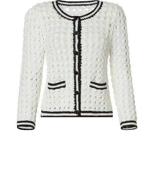 Crochet Cardigan .Lace blusa top jaqueta crochet por Irenastyle