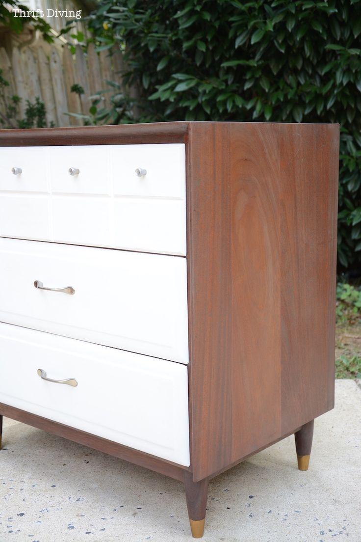 Mid-Century Modern Dresser Makeover - Thrift Diving7681