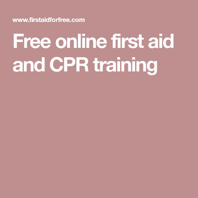 Free online first aid and CPR training