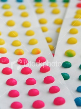 Candy dots. Not sure why but I liked these, they weren't good. I haven't had these since I was little
