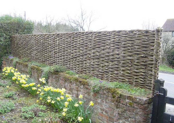 willow fence on top of wall from White's Farm, essex