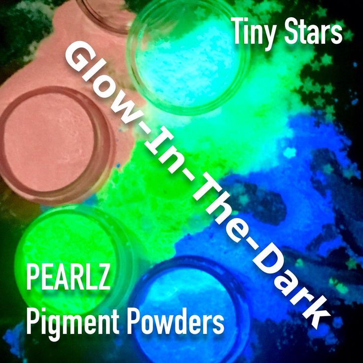 Just in time for summer... More Glow-In-The-Dark! In addition to our Glitter and Rocks we now have Tiny Star Shapes ANY Glow-In -The-Dark Pigment Powders: https://www.etsy.com/listing/521370940/new-pink-glow-pearlz-pigment-powder