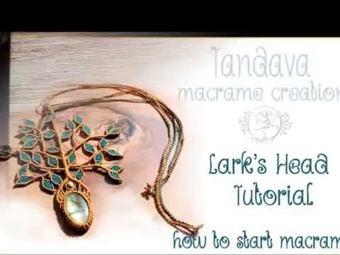 Macrame lesson1. How to make Lark's Head knot tutorial. - YouTube