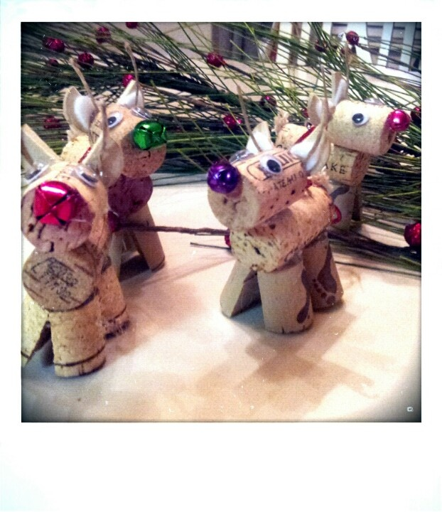 Pinterest success! Made from ideas from Pinterest! Adorable reindeer made from wine cork. Had so much fun making these guys!