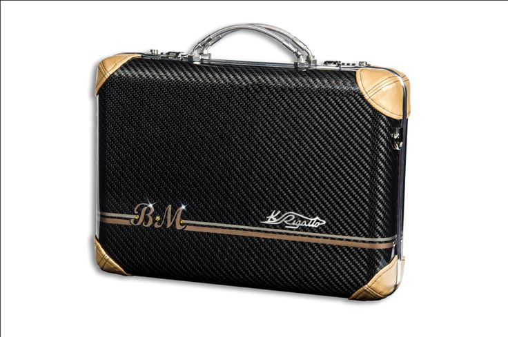 Carbon fiber with gold faux leather and custom paint
