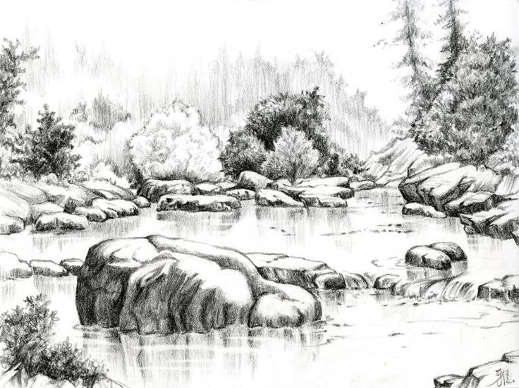 Best 25 landscape drawings ideas on pinterest landscape for Example of landscape drawing