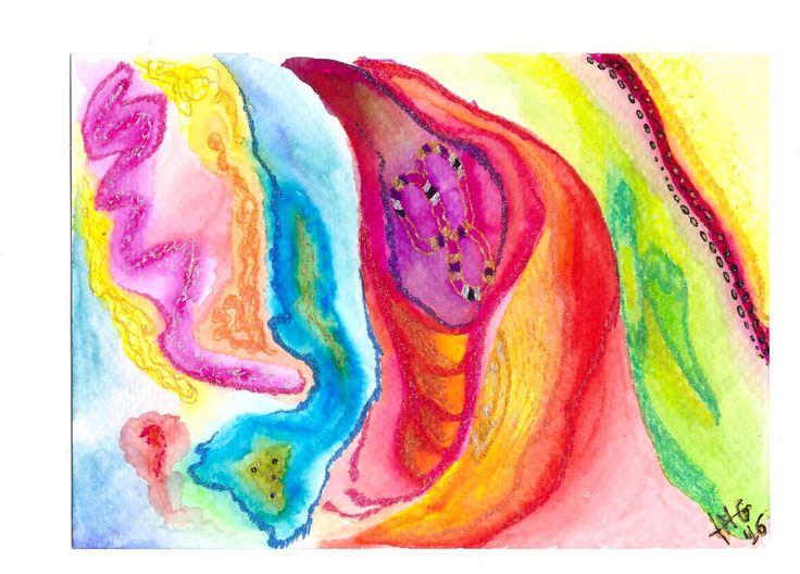 Waterlight 4. Dream on paper. Watercolor