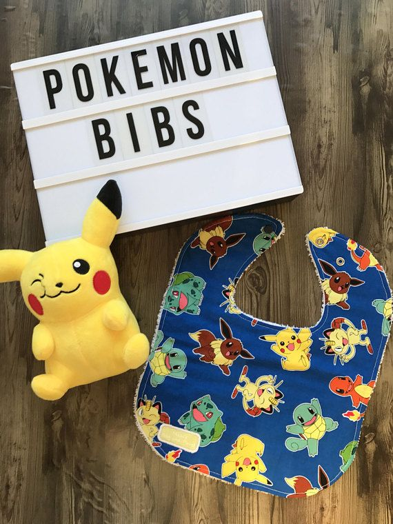 Handmade Pokemon Blue Bib