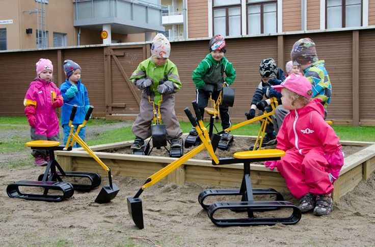 E. Hartikainen Oy donated toy excavators to local pre-school in the spring 2015 at Kuopio, Finland.